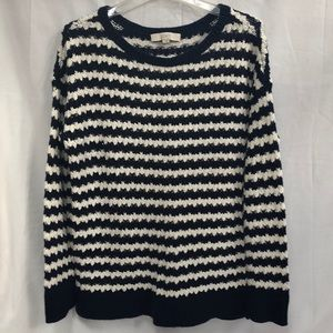 Navy and white stripe sweater from Loft, Large